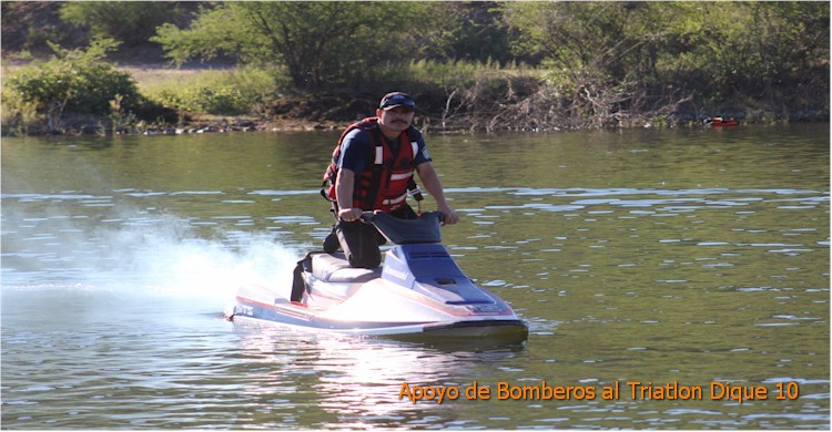 Triatlón Dique 10: Efren Polanco a bordo del jet-ski